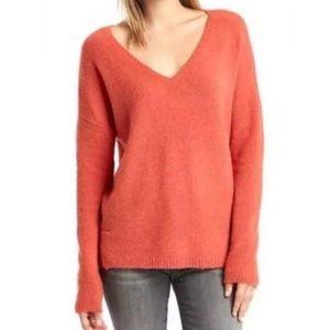GAP soft and cozy oversized orange v neck sweater